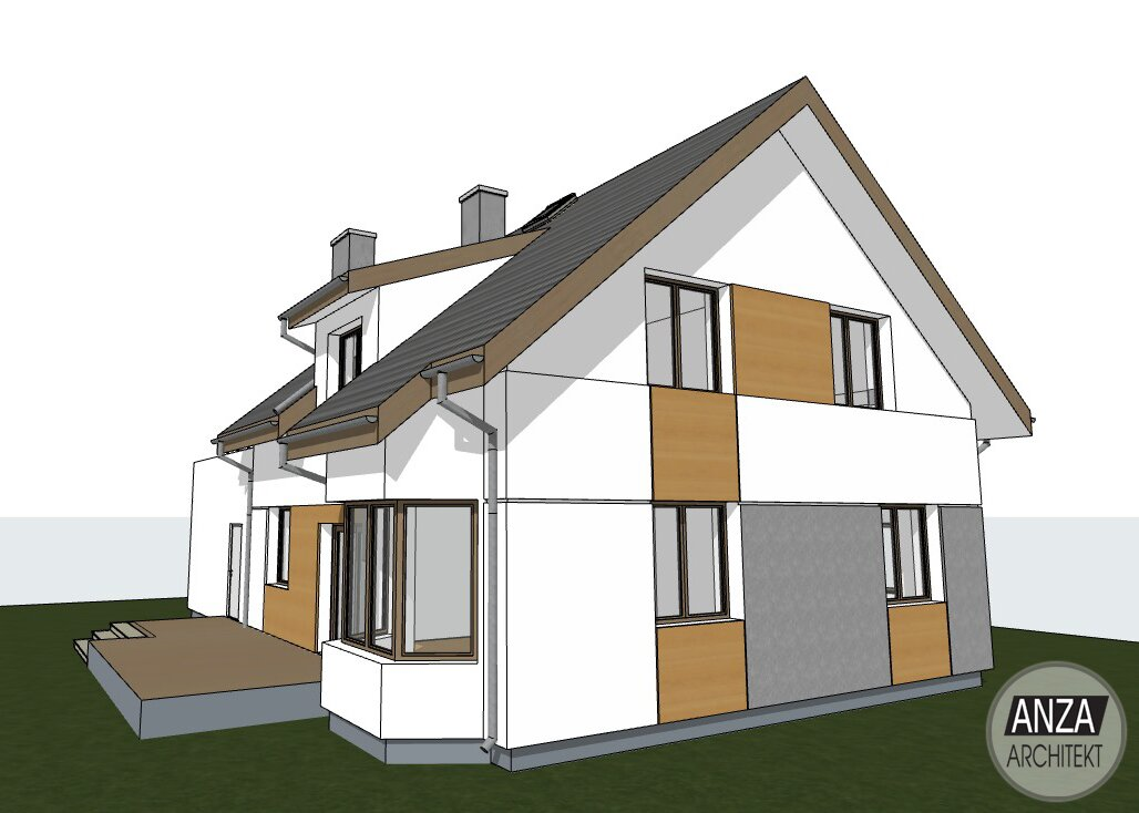 projekt domu piętrowego warszawa